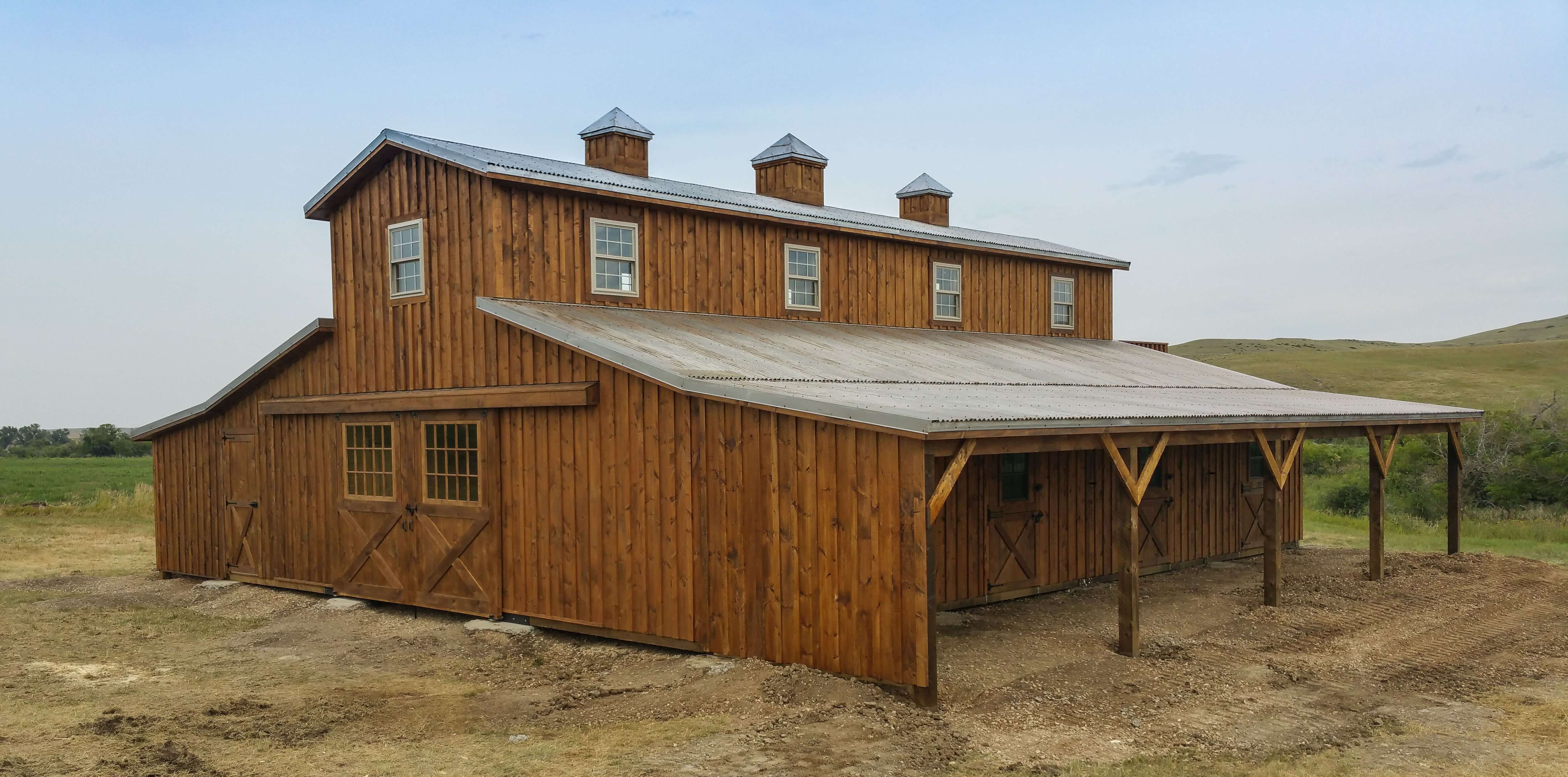 Structural Steel Buildings 4 also Indiana Pole Barn Kits besides Blog Page 26 also sunsetbarns additionally Horse Barn 36x48 Modular In Sheridan Wy. on lean to sheds delivered
