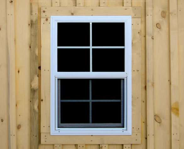 Our sliding vinyl windows allow for more air flow.