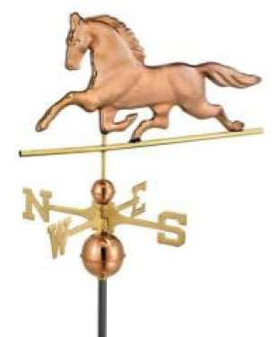 Finish your barn off with style with our horse weather vane.