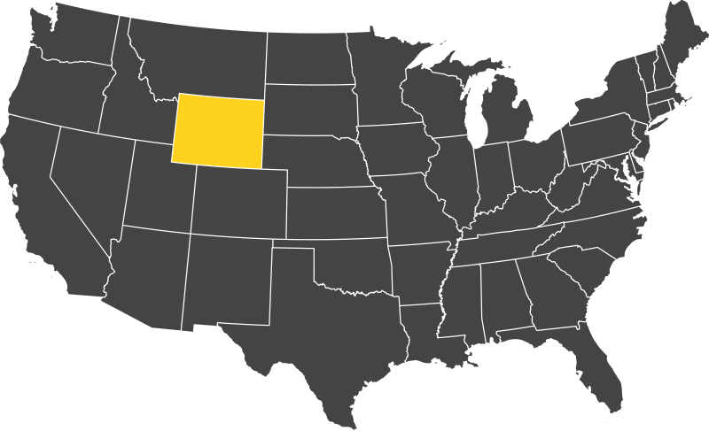 Wyoming US Map