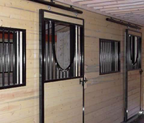 With a yoke door your horses will be better able to communicate with the other horses in the barn.